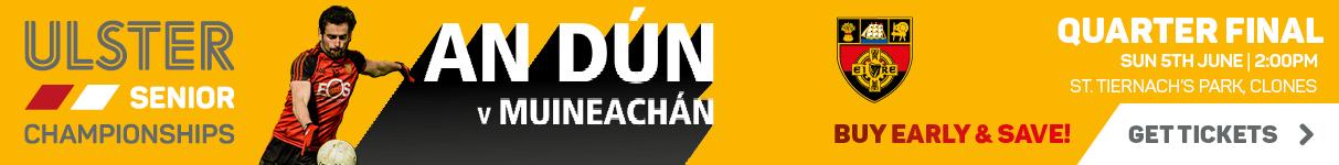 Ulster Championship 2016 - Quarter Final - Monaghan v Down - Web Banner