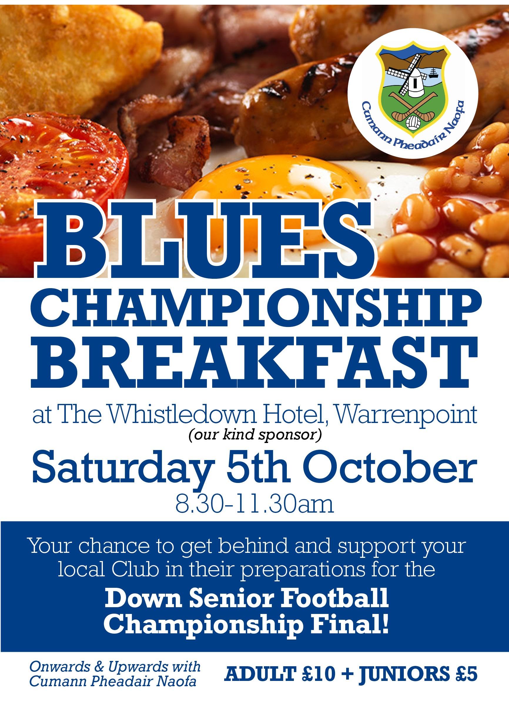 Blues Championship Breakfast