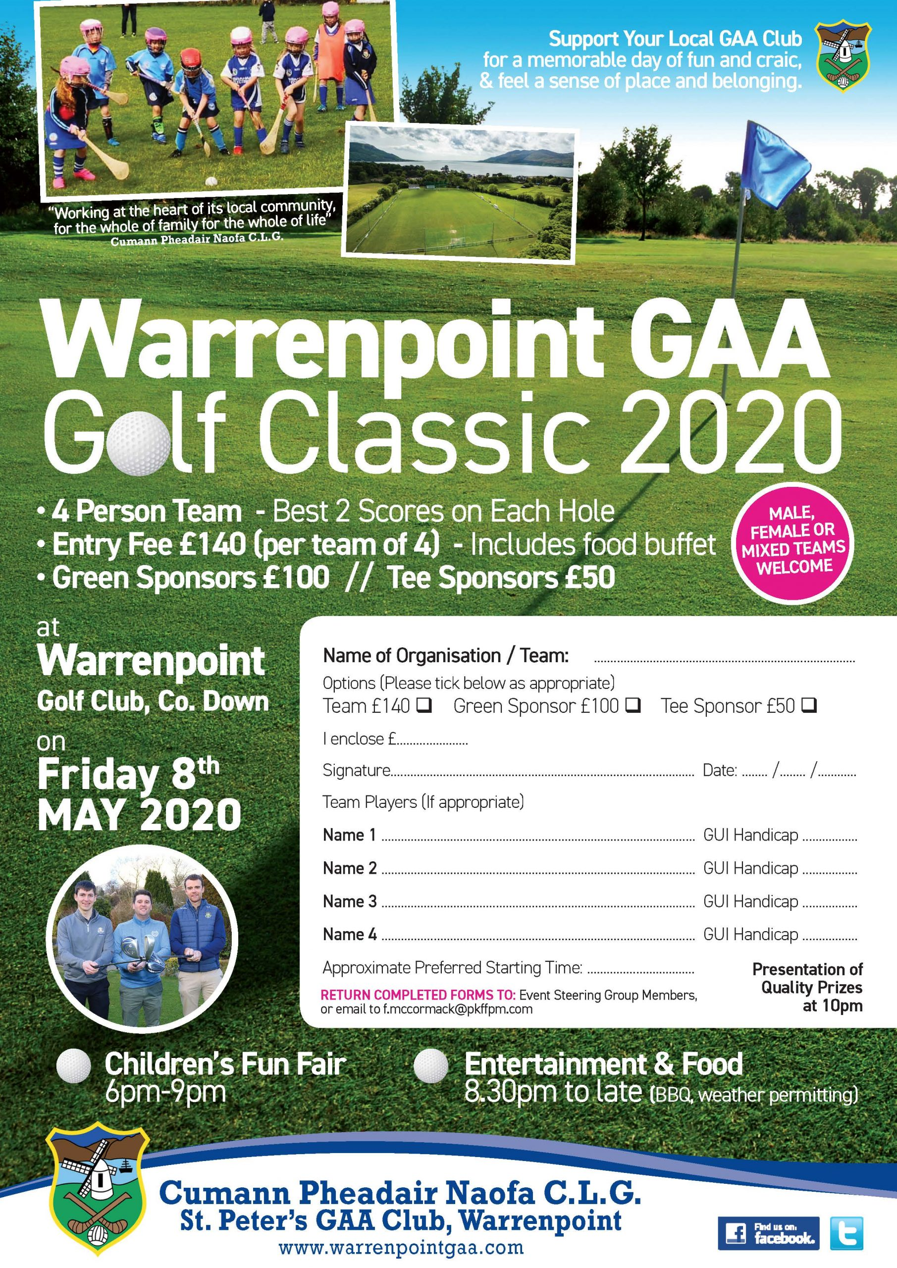 Warrenpoint GAA Golf Classic 2020